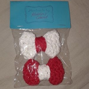 Handmade crochet bows